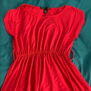 Red aline dress